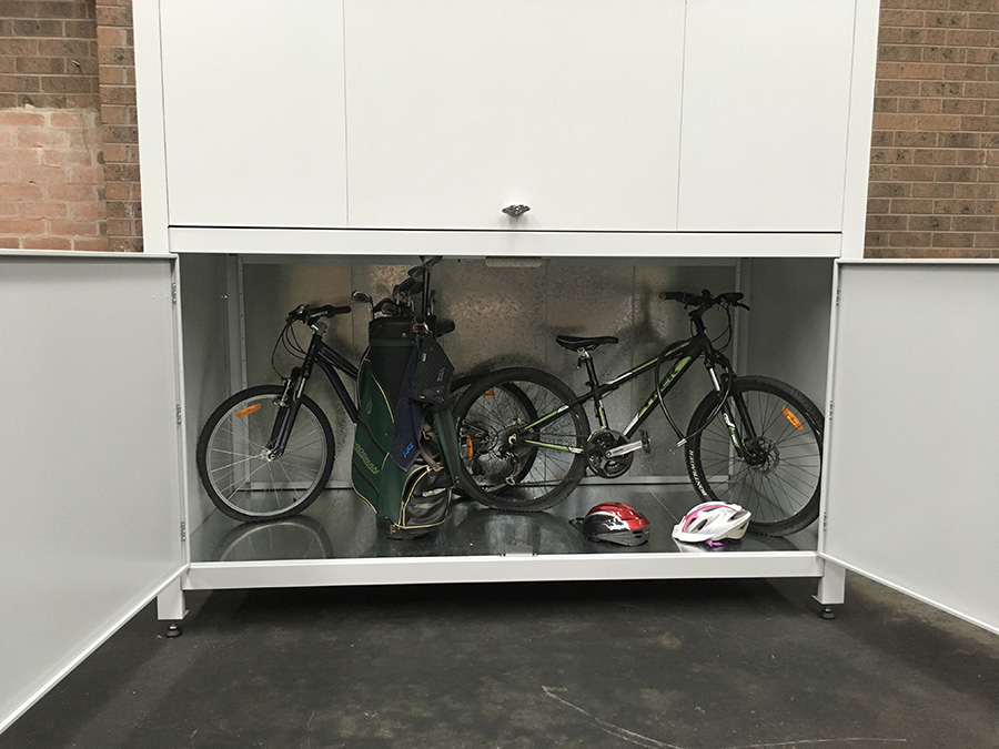 bicycle storage for apartment garage
