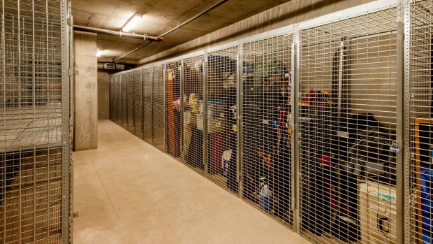 While it's not glamorous, basement storage is essential in an apartment