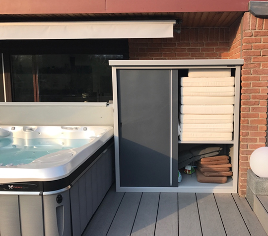 urban shed for pool area